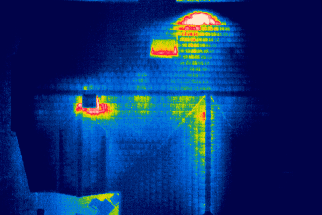 Thermographie d'habitation.